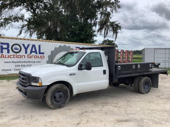 2002 Ford F-350 Flatbed Pickup Truck