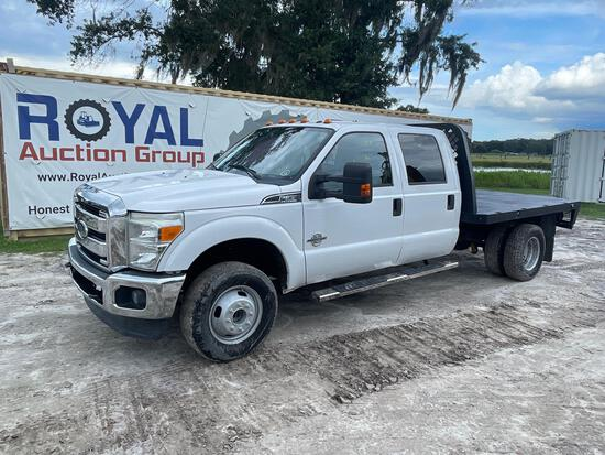 2014 Ford F-350 Crew Cab Flatbed Pickup Truck