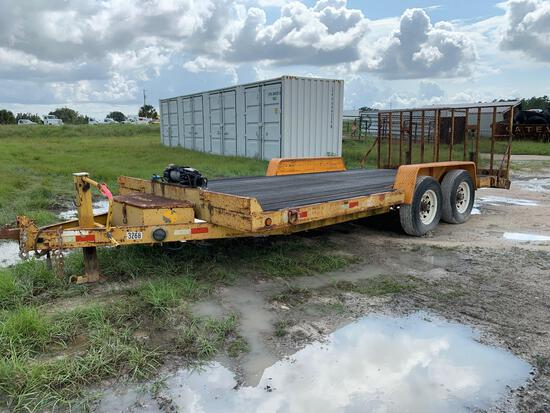 2007 Imperial T/A 18FT Equipment Trailer with Hydraulic Ramps