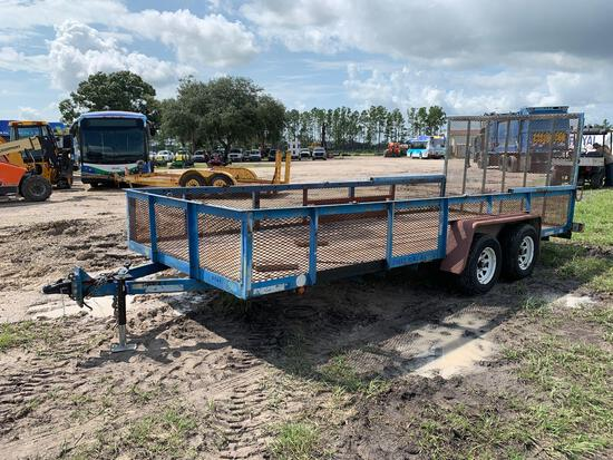 2002 TCT 18FT T/A Landscaping Trailer with Ramp
