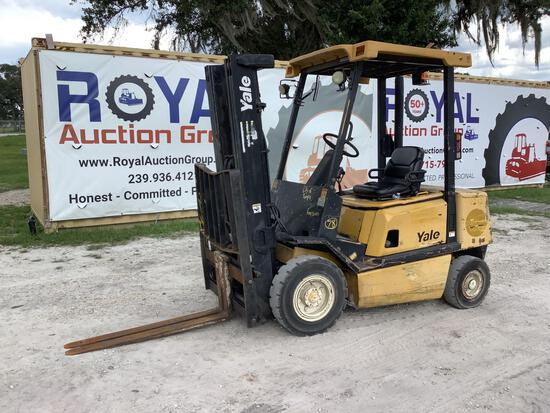 2004 Yale GDP050RG 4,600lb Pneumatic Tire Forklift