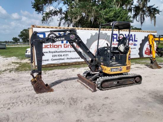 2017 John Deere 26G Mini Excavator
