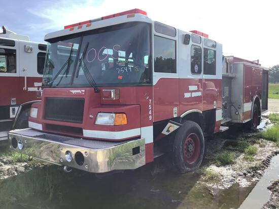 1999 Pierce Model Tilt Cab Pumper Truck