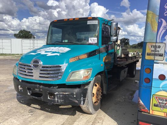2008 Hino 268 Rollback Tow Truck and Golf Cart