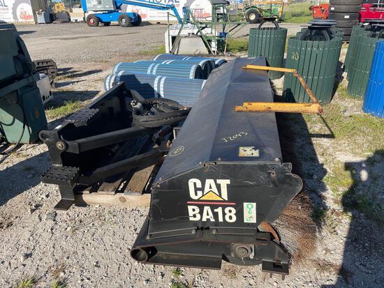 Caterpillar BA18 85 inch Hydraulic Skid Steer Angle Broom
