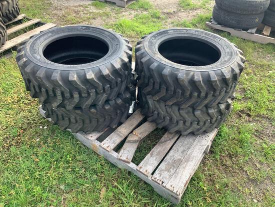 Four Unused 10-16.5 Skid Steer Tires