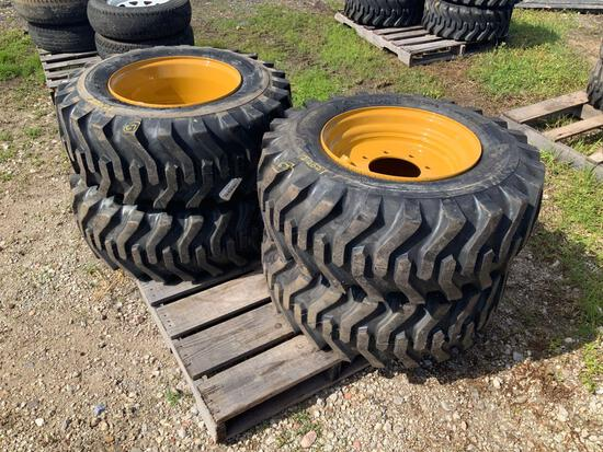 Four Unused 12-16.5 Tires with Rims