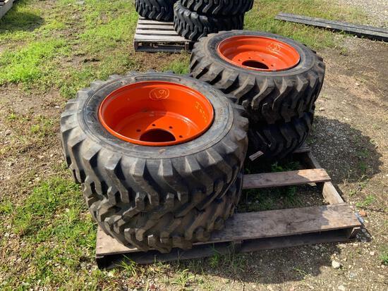 Four Unused 10-16.5 Tires with Rims