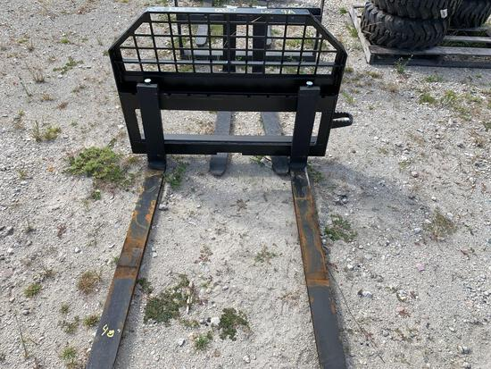 Unused JBX 48in 4,000lb Skid Steer Forks