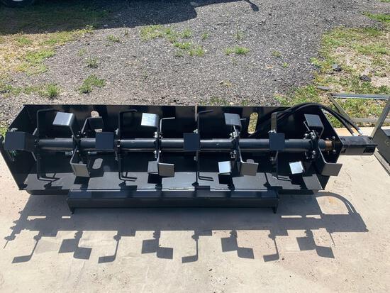 Unused 72in JCT Skid Steer Tiller