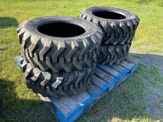 Four Unused Camso 12-16.5 Skid Steer Tires