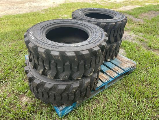 Four Unused Loadmaxx 12-16.5 Skid Steer Tires