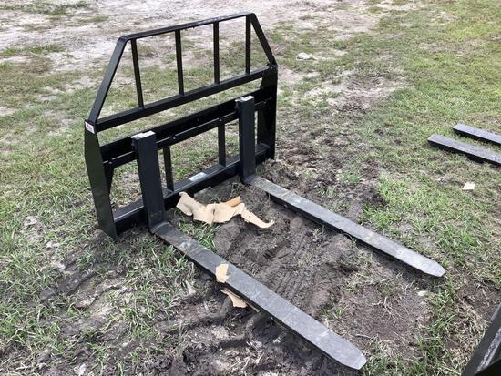 Unused 48in 3500lb Skid Steer Forks and Frame