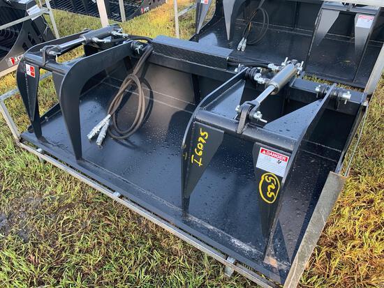 Unused 72in JCT Skid Steer Dual-Cylinder Grapple Bucket