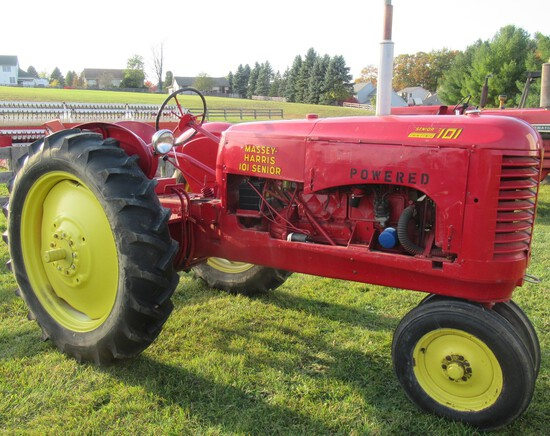 1940's Massey-Harris 1010 Senior Narrow Front Chevy Gas Conversion Tractor.