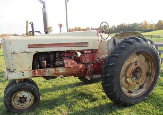 1950's Cockshott 550 Gas Narrow Front Tractor.