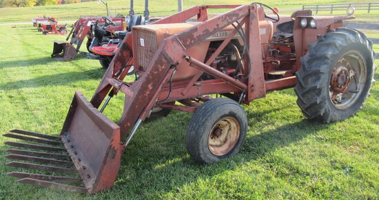 1970's Allis Chalmers One-Sixty Diesel Tractor with Loader.