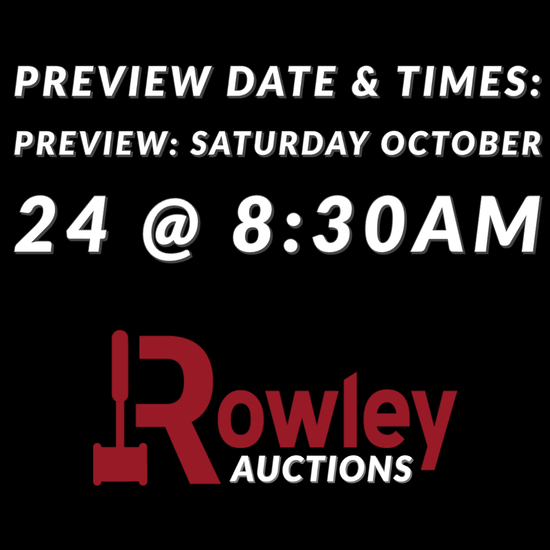 Preview Date & Times: Preview: Saturday October 24 @ 8:30AM
