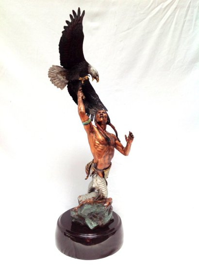 "LEGENDS FINE ART SCULPTURE ""FEATHERED FURY"" STATUE # 10/350  BY  C.A. PARDELL"
