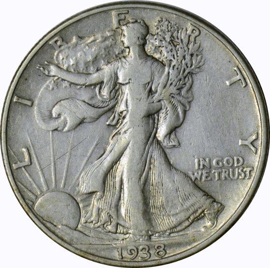 1938-D WALKING LIBERTY HALF