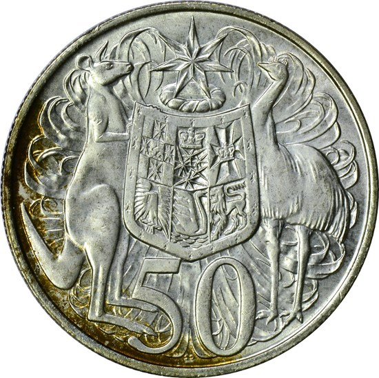 AUSTRALIA - 1966 SILVER FIFTY CENTS