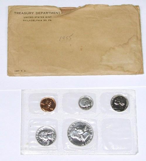 1955 PROOF SET in ENVELOPE - FLAT PACK