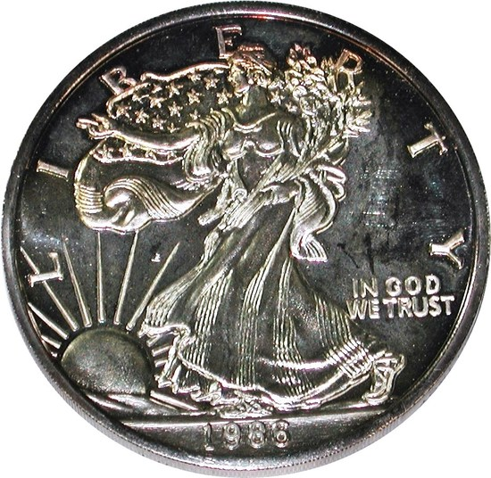 12 TROY OUNCE 1986 SILVER ROUND
