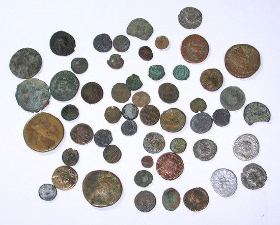52 ASSORTED ANCIENT COINS