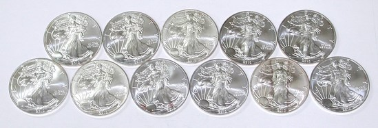 11 - 2010 UNCIRCULATED SILVER EAGLES