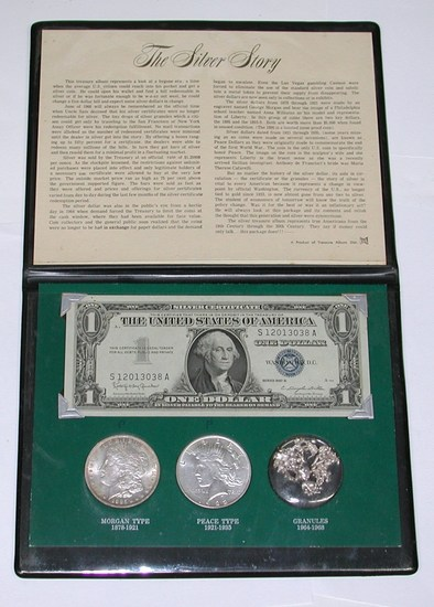 THE SILVER STORY - SILVER COIN, CURRENCY & GRANULES SET