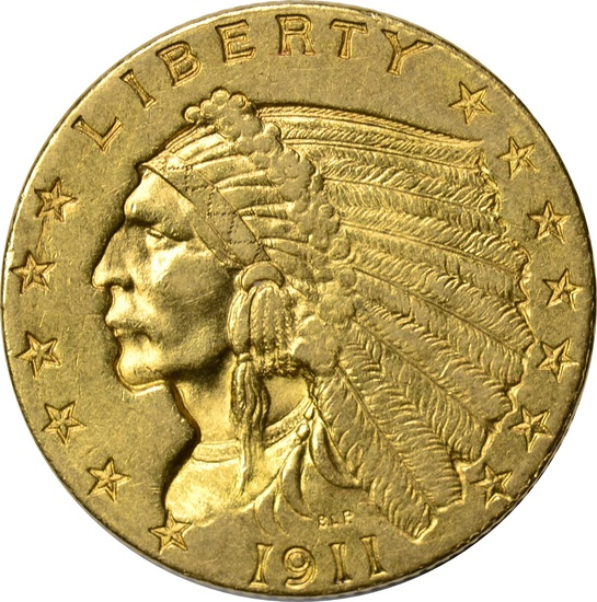 1911 $2.50 INDIAN HEAD GOLD PIECE