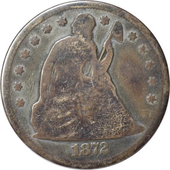 1872 SEATED LIBERTY DOLLAR
