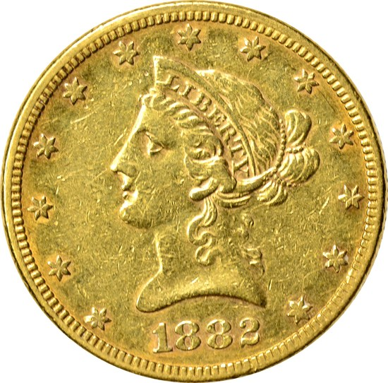 1882 $10 LIBERTY GOLD PIECE