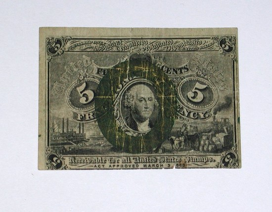 1863 SECOND ISSUE FIVE CENT FRACTIONAL NOTE