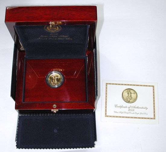 2009 ULTRA HIGH RELIEF DOUBLE EAGLE GOLD COIN in BOX with BOOKLET