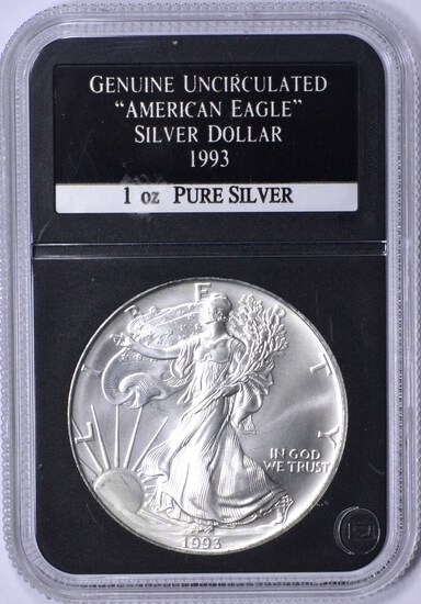 1993 UNCIRCULATED SILVER EAGLE in HOLDER