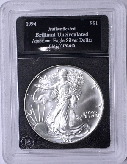 1994 UNCIRCULATED SILVER EAGLE in HOLDER