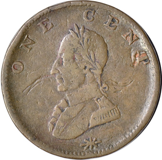 POST-COLONIAL DOUBLE-HEADED WASHINGTON CENT