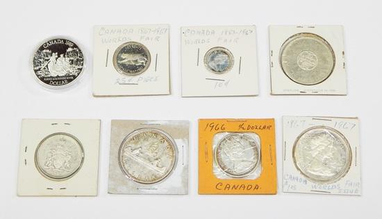 CANADA - (8) SILVER COINS
