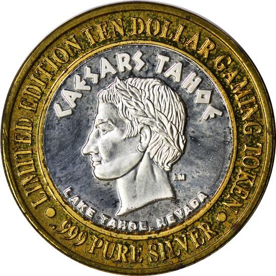 CAESAR'S TAHOE SILVER and BRONZE $10 GAMING TOKEN