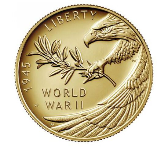 JUST RELEASED - END of WORLD WAR II 24 KARAT HALF OUNCE GOLD COIN - 7,500 MINTED