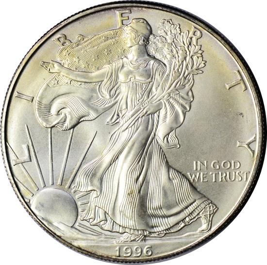1996 UNCIRCULATED SILVER EAGLE