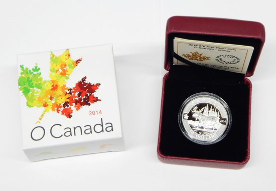 CANADA - 2014 $10 FINE SILVER O CANADA MOOSE - IN BOX with PAPERS