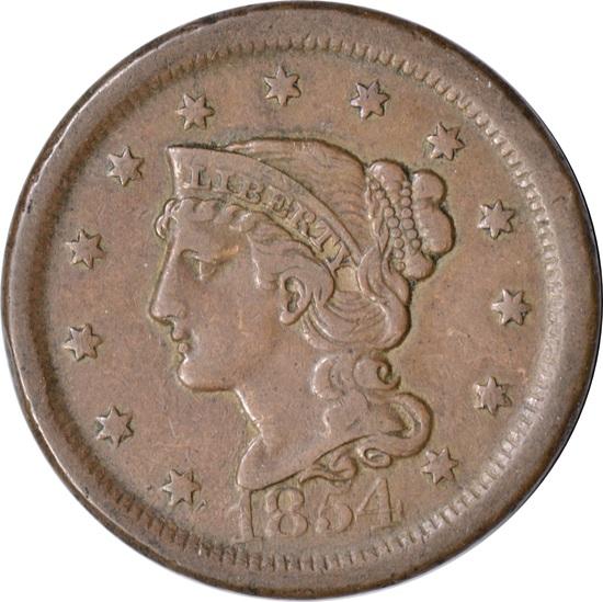 1854 LARGE CENT