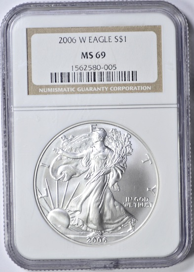 2006-W SILVER EAGLE - NGC MS69