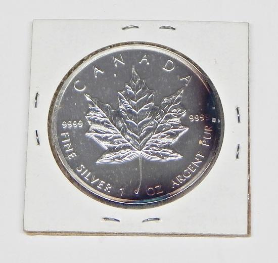 1988 CANADA $5 SILVER MAPLE LEAF - 1 OZ .9999 FINE SILVER