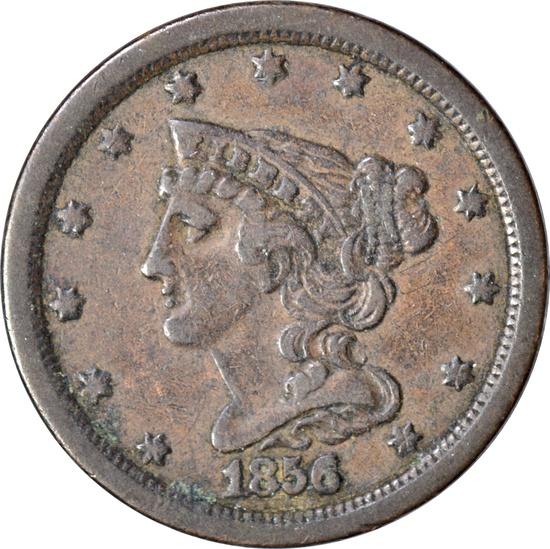 1856 HALF CENT