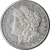 1878-CC MORGAN DOLLAR - NEARLY UNC DETAILS