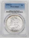 1878-CC MORGAN DOLLAR - PCGS MS63
