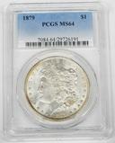 1879 MORGAN DOLLAR - PCGS MS64